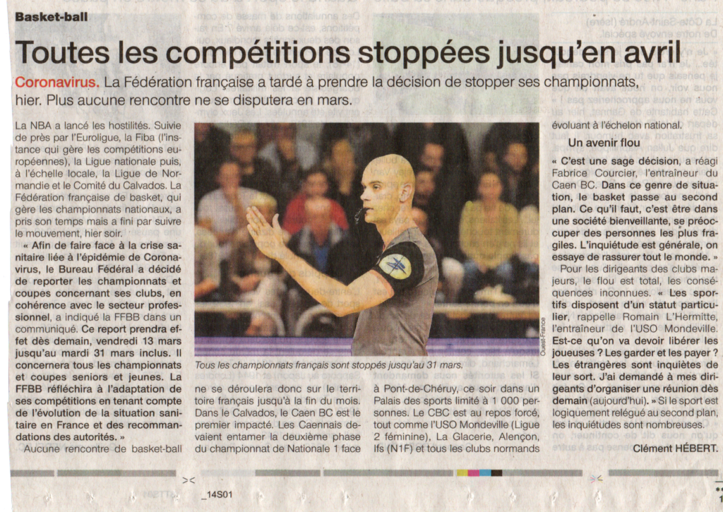 Article Ouest-France 13-03-2020