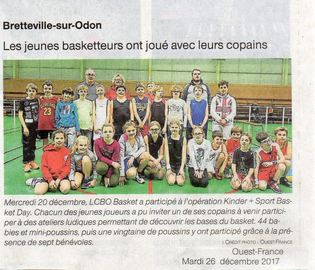 Kinder-Day Ouest-France 26-12-2017