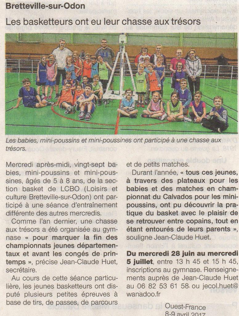 LCBO-Basket - Chasse au trésor 5avril 2017