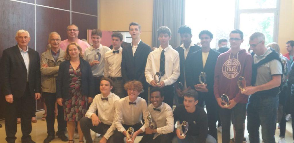 Les cadets récompensés par la mairie juin 2019